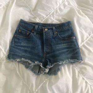 Levi's High Rise 501 Cutoff Shorts